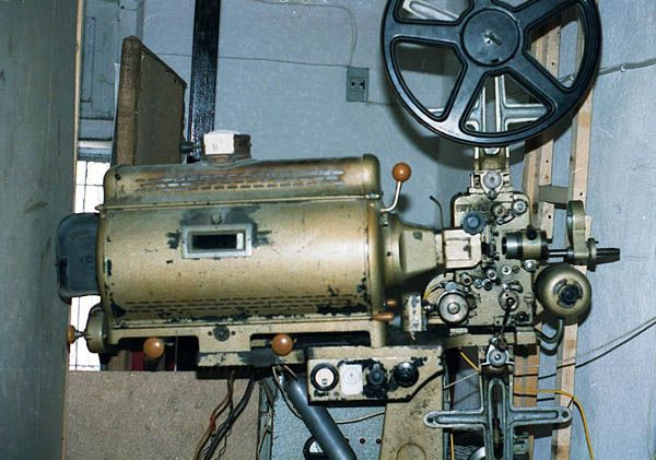 Vintage movie projector - these things had to put out a massive amount of light.