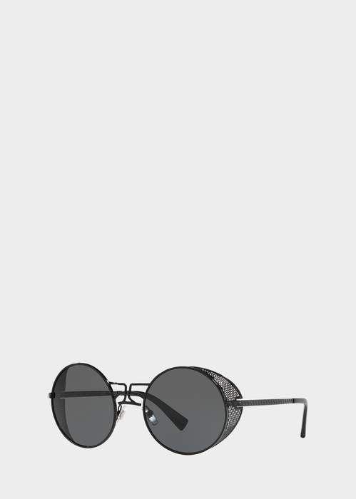 ae556cb287ae8 Versace Black Round Tribe Sunglasses