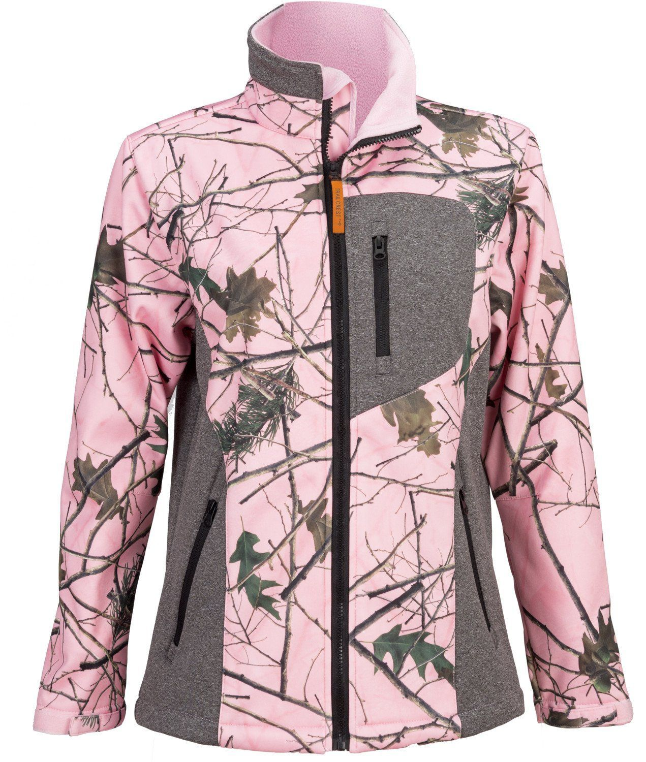 2833b24ba0722 Women's Pink Forest Camo Custom Xrg Soft Shell Jacket | Products ...