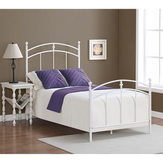 Pogo twin size powdered sugar finish bed frame ordered for Cheap twin bed frames