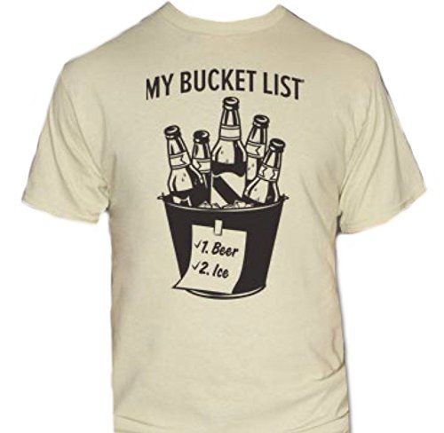 Bucket List-Beer & Ice T-Shirt-Funny drinking shirt | Patrick o ...
