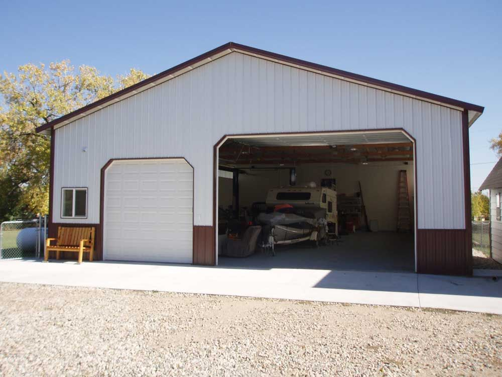 Door options metal barn designs pole barn prices pole for Garage building ideas
