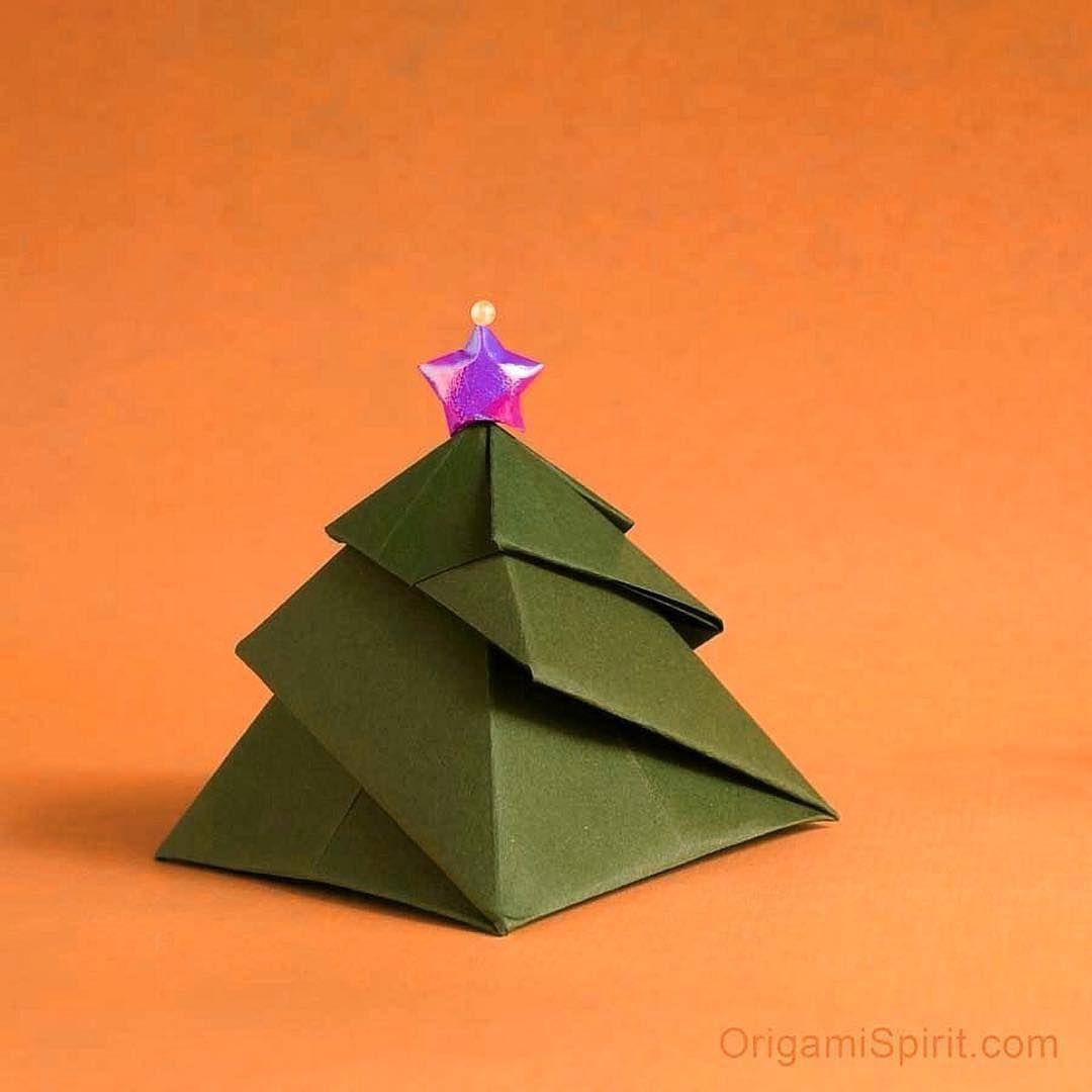 545 Likes 12 Comments Leyla Torres Origami Spirit Leylaltorres On Instagram Christmas Tree Box Jann Origami Christmas Tree Origami Christmas Origami