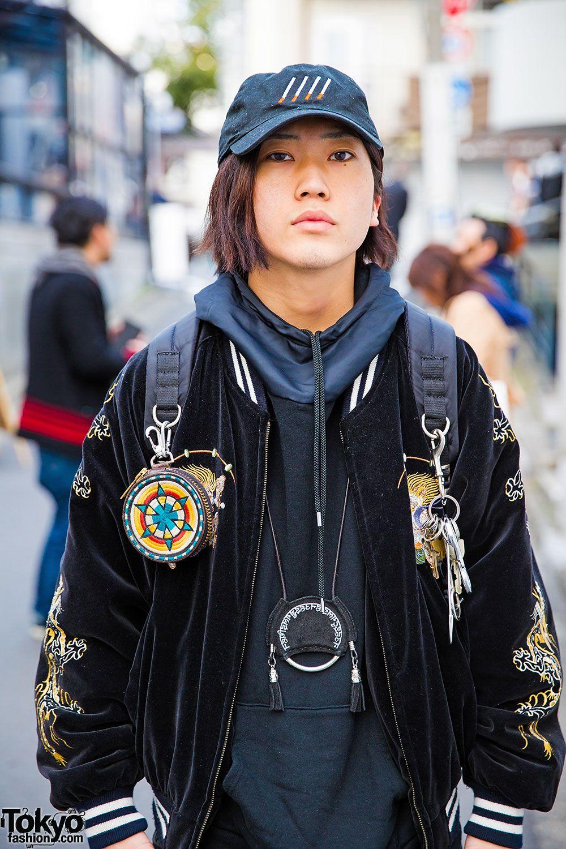 Harajuku Guy In Dragon Sukajan Ttt Msw Hoodie Hiro Pants Nike Sneakers Fashion Tokyo Street Style Hoodies [ 1500 x 1000 Pixel ]