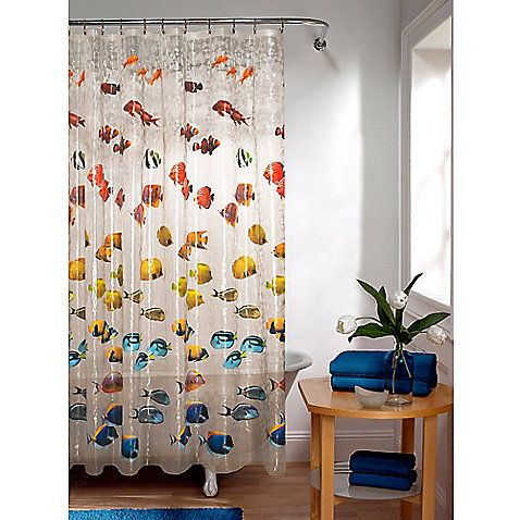 Embossed New School Peva Shower Curtain In Clear Furniture