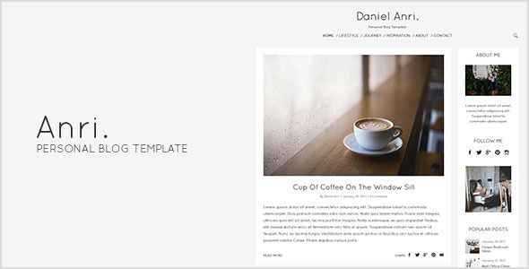 Anri personal blog template cleanses posts and creative anri personal blog template pronofoot35fo Gallery