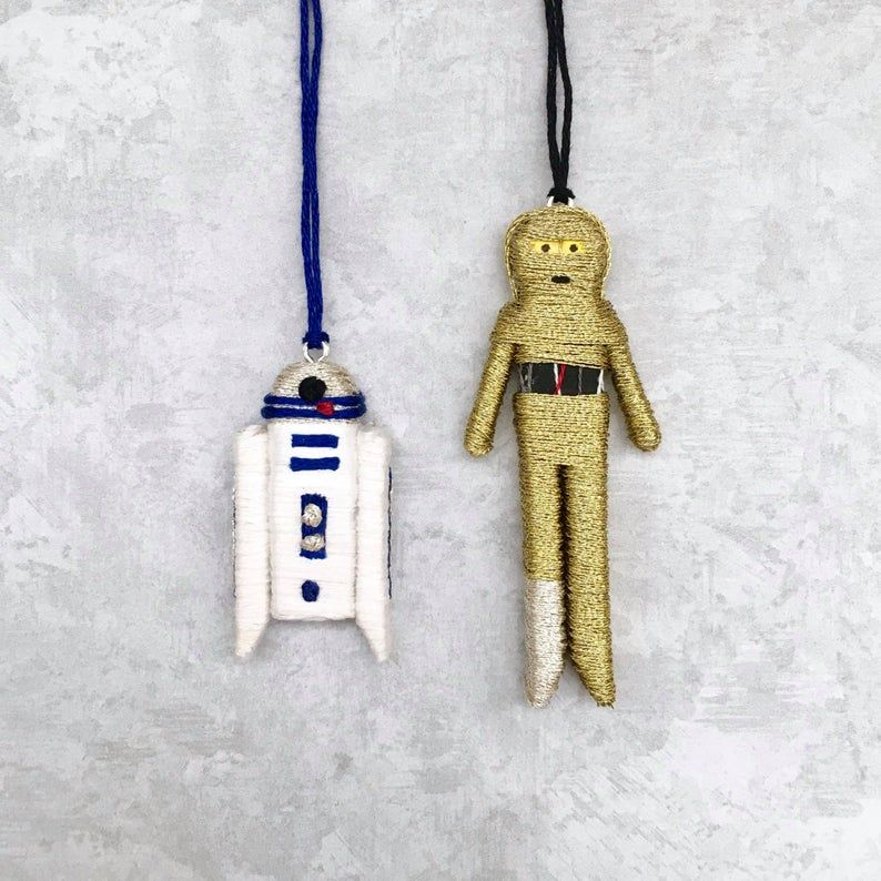R2d2 Christmas Pin 2020 R2 D2 C3PO Christmas Ornaments Star Wars Clothespin Dolls | Etsy