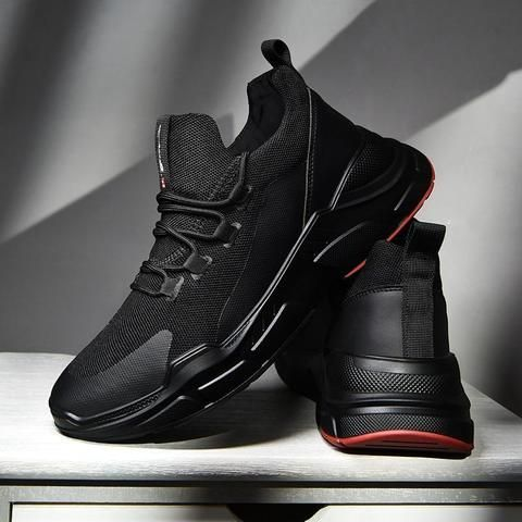 brand sneakers men black lace up mens shoes casual