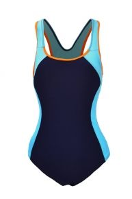 Color Blocking Padded Trendy Plus Size Bathing Suits