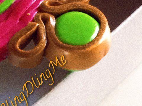 Particolare orecchino.  Prezzi e info sul sito: http://blingdlingme.wix.com/blingdlingme#! #earrings, #handmade, #silver, #gold #blingdlingme