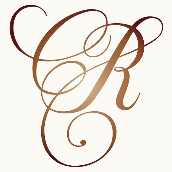 Custom wedding monogram personalized vector