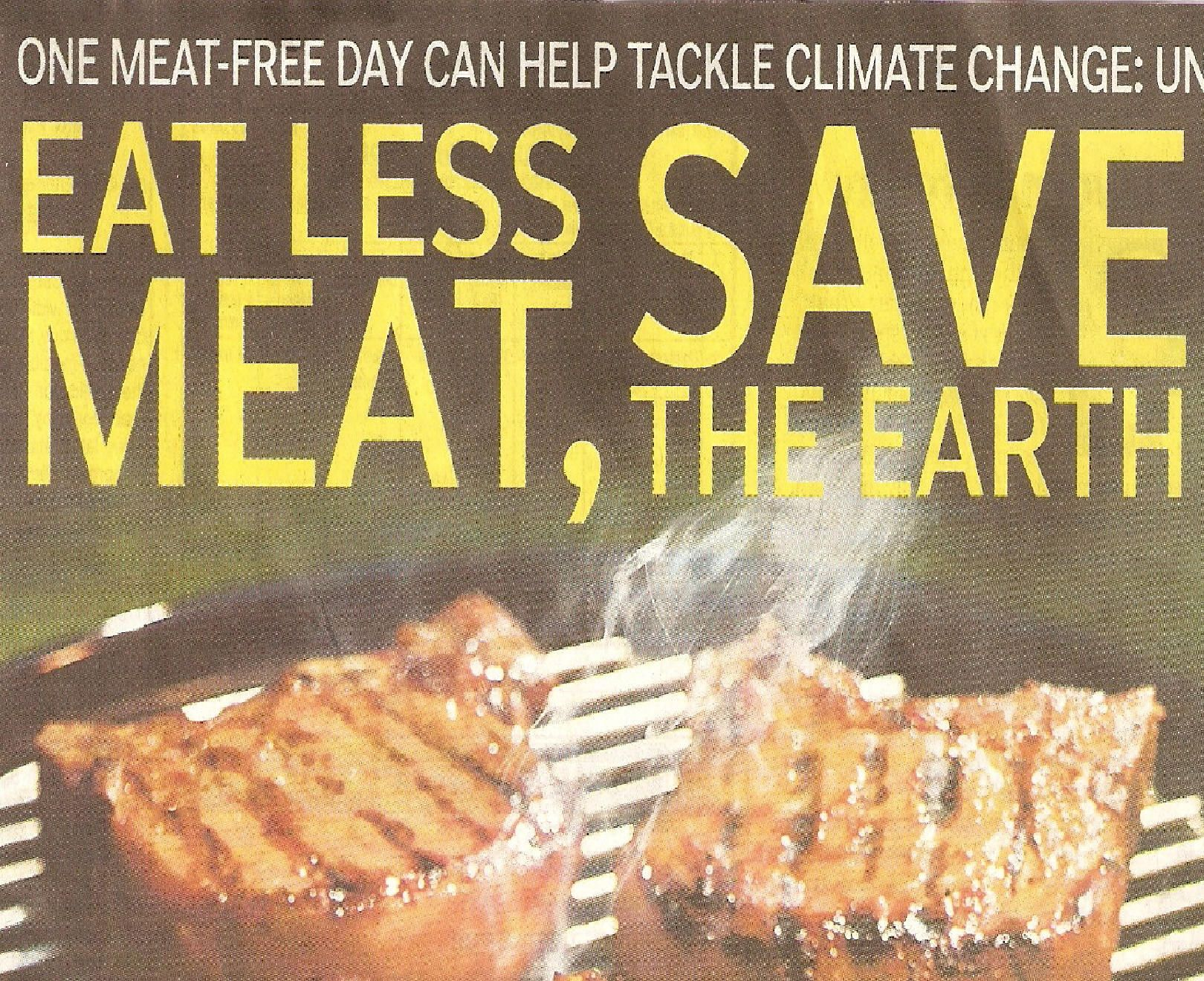 Eating less meat and junk food could cut fossil energy fuel use