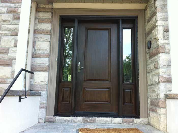 Wood Grain Fiberglass Exterior Doors Solid Wood Doors Exterior