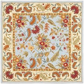 Safavieh Chelsea Square Blue Transitional Hand Hooked Wool Area Rug Common 8