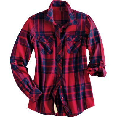 Women's Crosscut Flannel Shirt. I would like either the pictured ...