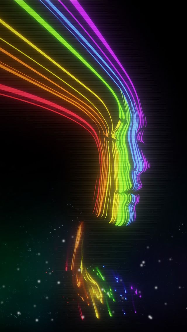 30 Awesome Samsung Galaxy S3 And Iphone 5 Wallpapers Rainbow Face Color Magic Rainbow Colors