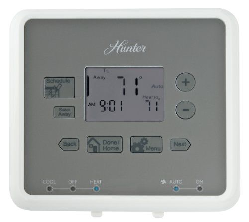 Buy Hunter 44132 5 Minute 5 2 Day Programmable Thermostat White Hunter 44132 Is Easy Universal Compati With Images Programmable Thermostat Home Thermostat Thermostat