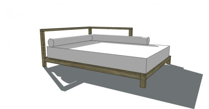 Free Woodworking Plans to Build a 2×2 Full Sized One Armed Daybed