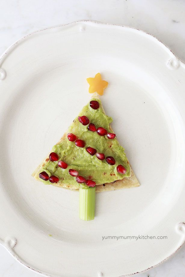 quesadilla christmas tree
