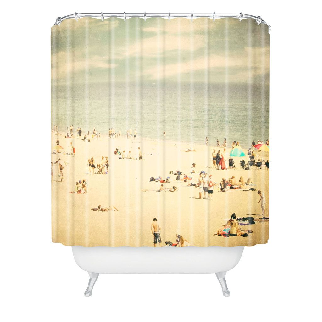 Shannon Clark Vintage Beach Shower Curtain   Beach shower curtains ...