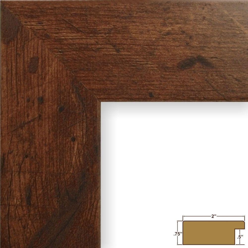 """Craig Frames Traditional Ornate 2.2/"""" Dark Walnut Brown Hardwood Picture Frame"""