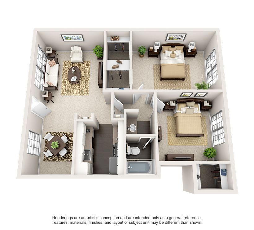 Luxury 1, 2, And 3 Bedroom Apartments In Bellaire, TX