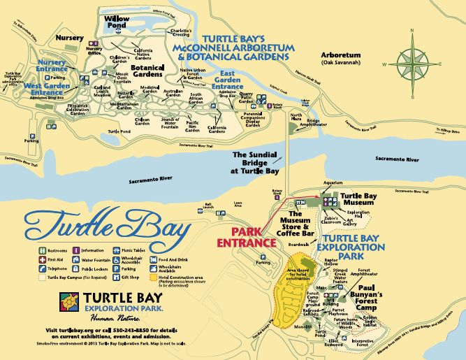 Map Turtle Bay Exploration Park Human Nature Redding CA