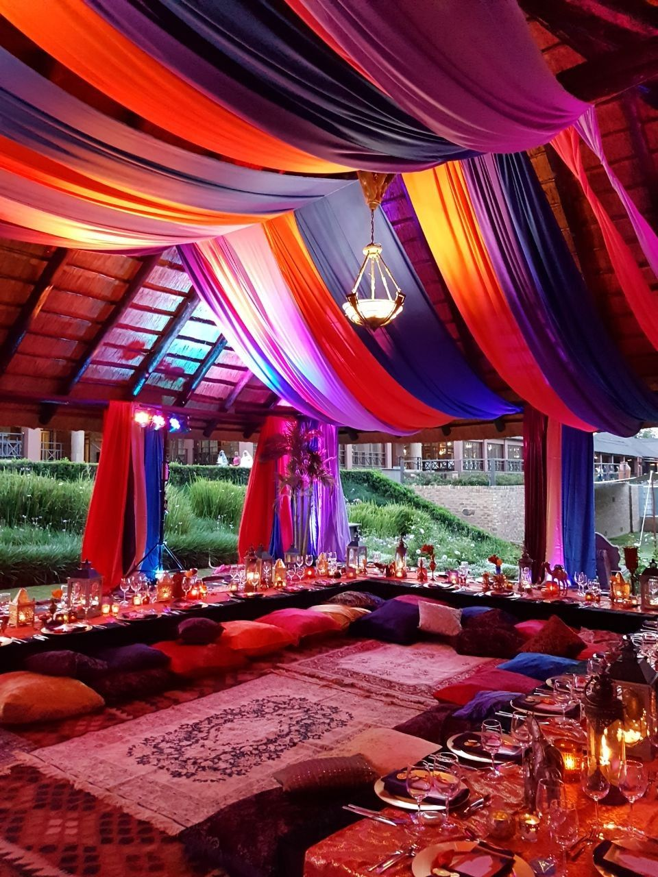 Arabian Nights Morrocan Party Theme Bright Drapping And Colour
