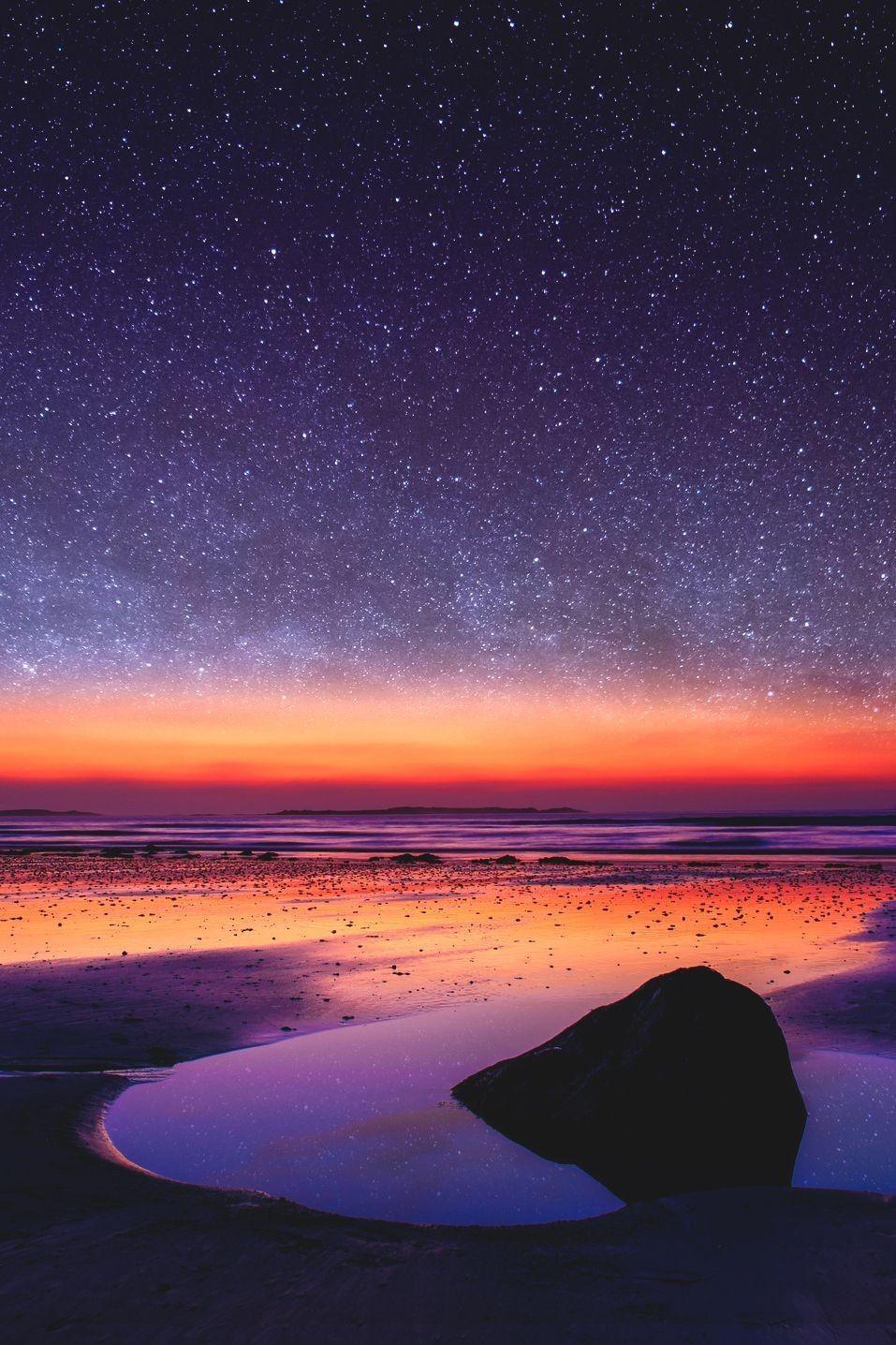 Stunning View Sunset Nature Beautiful Landscapes