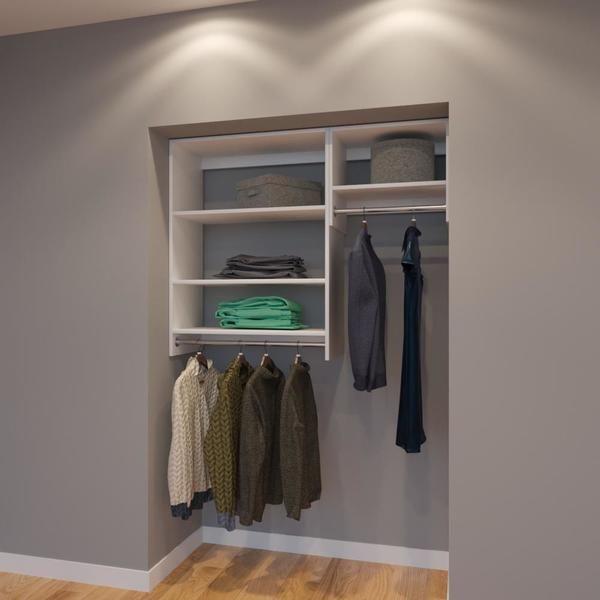 Modular Closets 4 5 Ft Closet Organizer System 54 Inch Style E