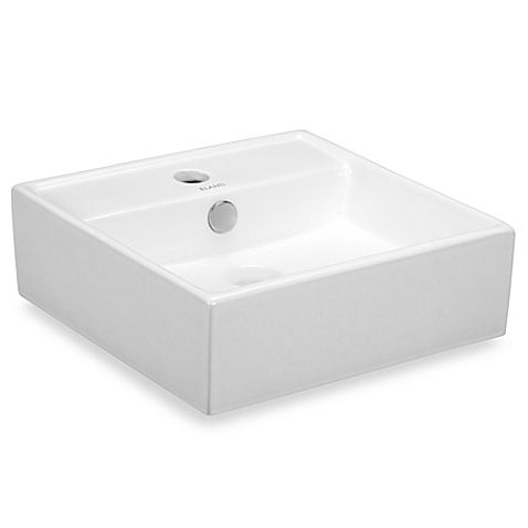 Elanti Ec9868 Porcelain White Wall Mounted Square Sink Square Sink