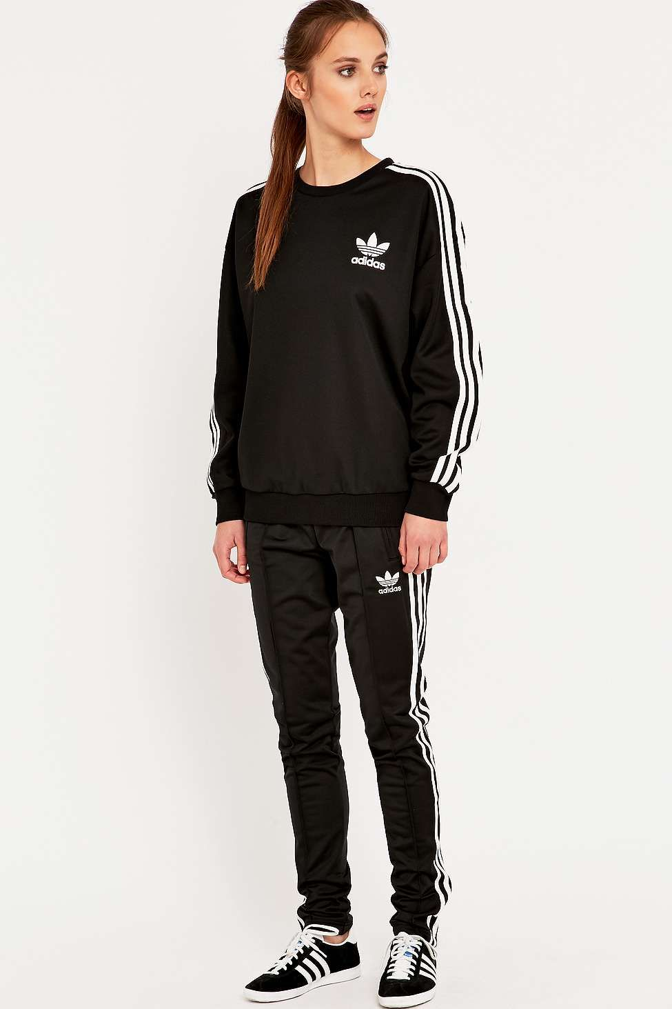 adidas originals pantalon de jogging slim supergirl linge pantalons de jogging et sports. Black Bedroom Furniture Sets. Home Design Ideas