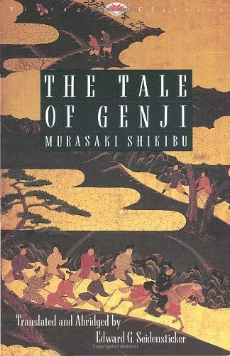 The Tale of Genji by Shikibu Murasaki - from $3.39 --Widely acknowledged as the world's first novel, this astonishingly lovely book was written by a court lady in Heian Japan and offers a window into that formal, mannered world. Genji, a man of passionate impulses and a lover of beauty, is the favorite son of the Emperor, though his position at court is not entirely stable. He follows his wayward longings through moonlight-soaked gardens and jeweled pavilions,