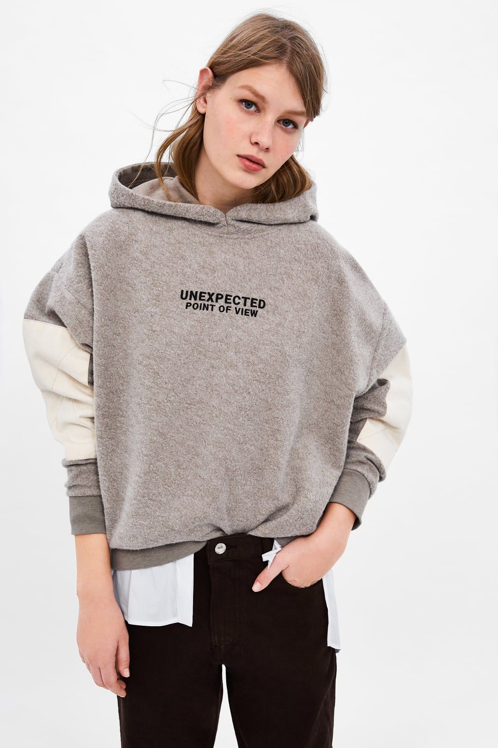 88aeff969d Image 2 of PATCH SLEEVE SWEATSHIRT from Zara Manga