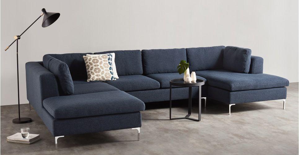Monterosso Left Hand Facing Corner Sofa Storm Blue