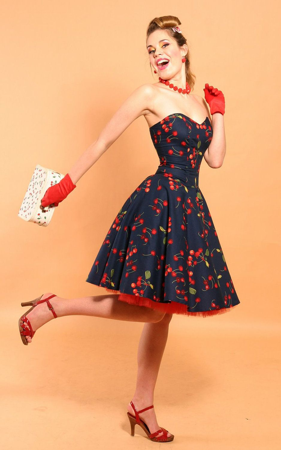 Rockabilly dress style