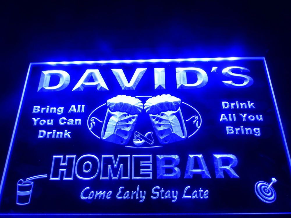 Personalised led neon bar light sign custom home beer name man cave personalised led neon bar light sign custom home beer name man cave aloadofball Image collections