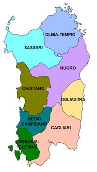 Cartina Sardegna Province.Cartina Province Della Sardegna Ricerca Google Sardegna Google Ricerca