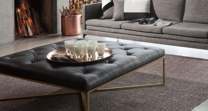 ottoman leather ottoman coffee table