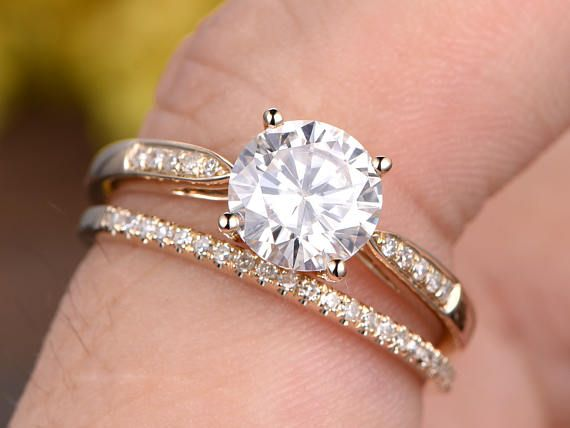 a1eb905e53ff7 1ctw Forever Classic Charles & Colvard Moissanite engagement ring ...