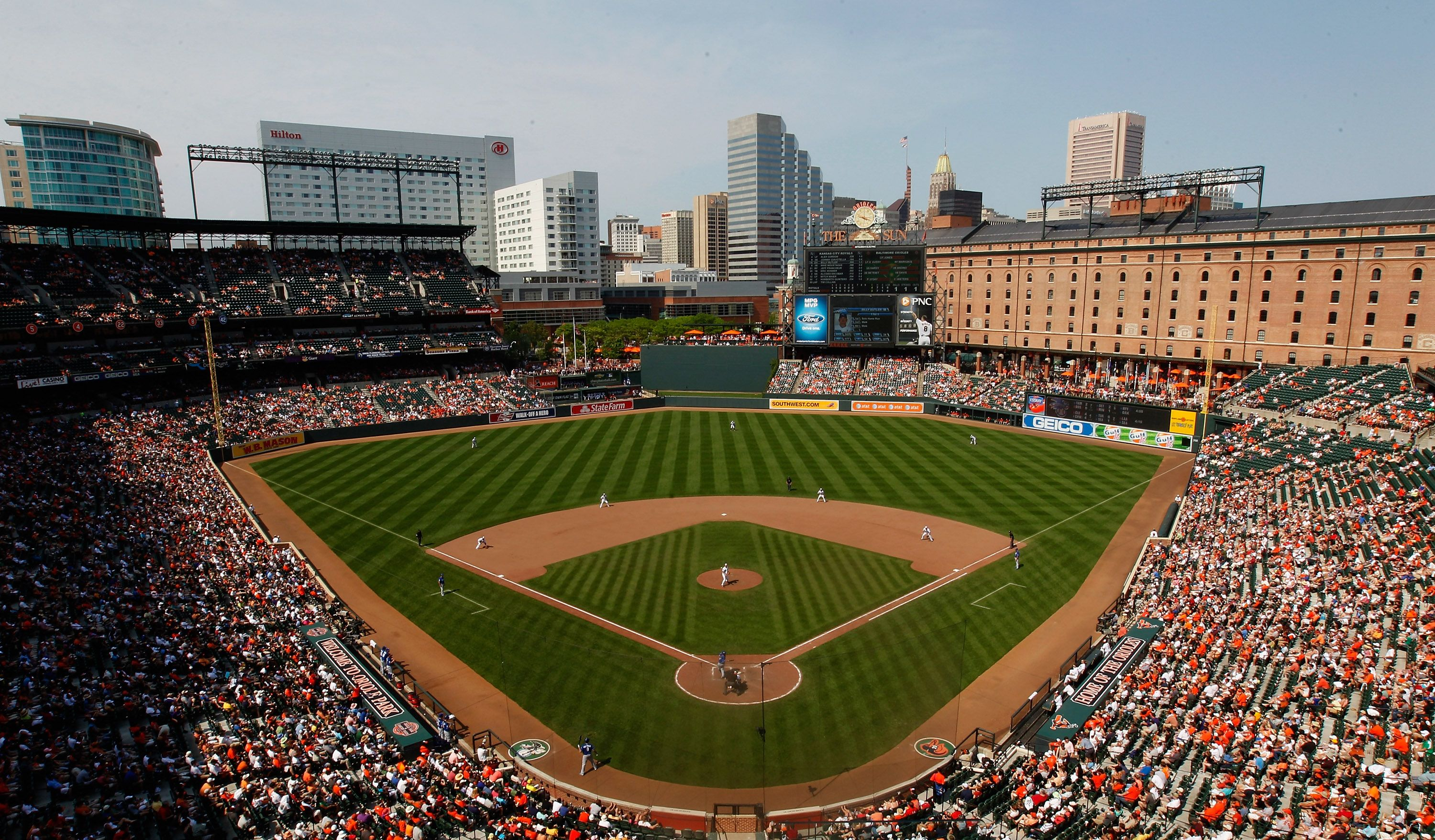 Oriole Park At Camden Yards Home To The Baltimore Orioles Camden Yards Baseball Park Baseball