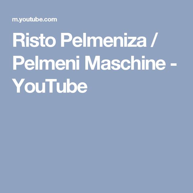 Risto Pelmeniza / Pelmeni Maschine - YouTube