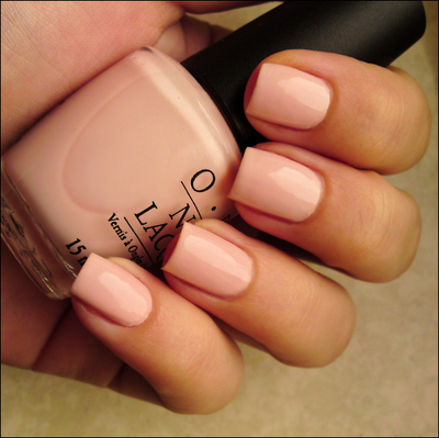 O.P.I. Sweetheart - classic natural pink, not sheer at all!