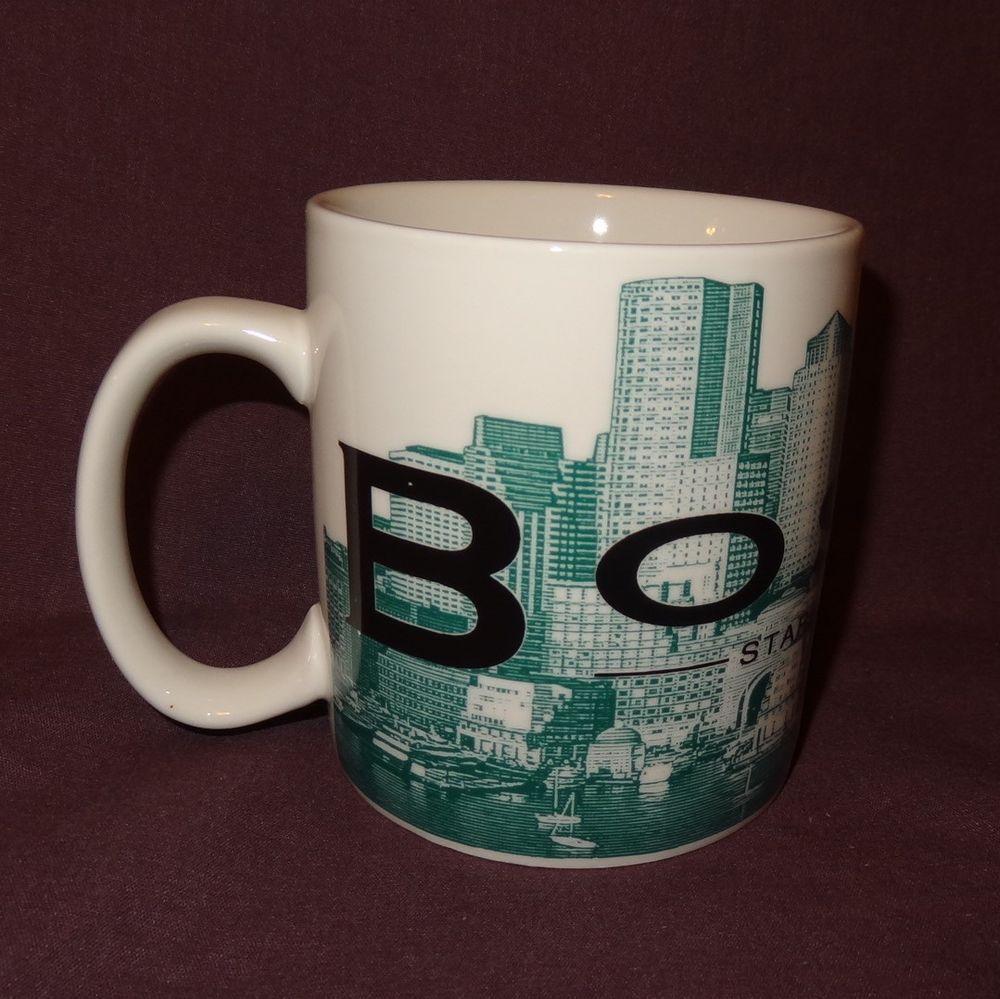 Boston Starbucks Beantown Green Coffee Mug 16 oz Cup ...