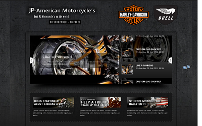 Best joomla templates. American Motorcycle - joomla motorcycle template. http://100cms.org/news/joomla/147-5-best-joomla-motorcycle-templates