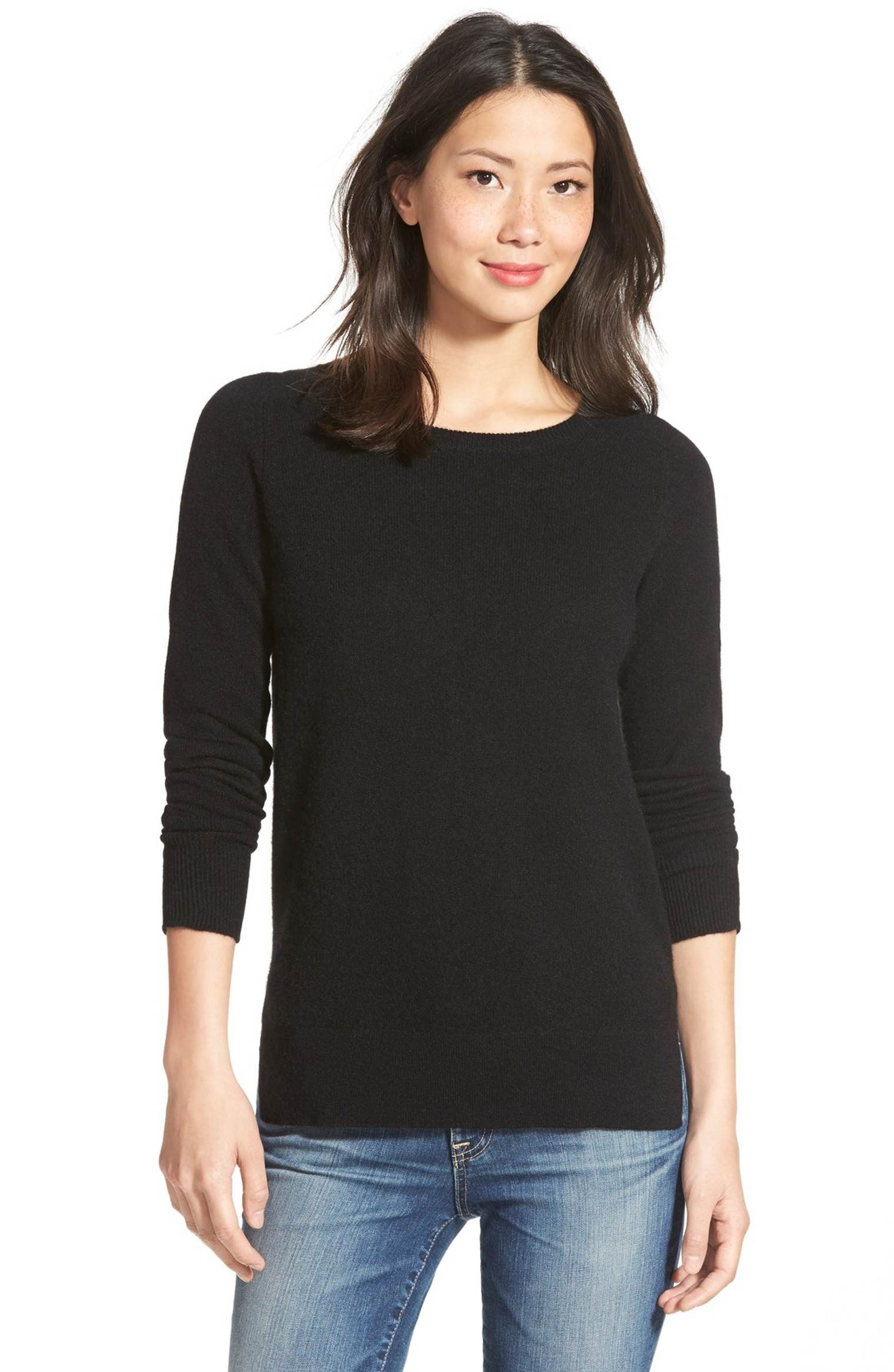Main Image - Halogen® Crewneck Lightweight Cashmere Sweater ...