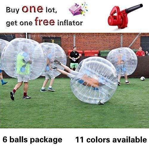 12 Balls Package Inflatable Bubble Soccer Bubble Football Inflatable Human Hamster Ball Body Zorb Ball Loopy Ball Bumper Ball 12m1 Bubble Soccer Bubbles Soccer