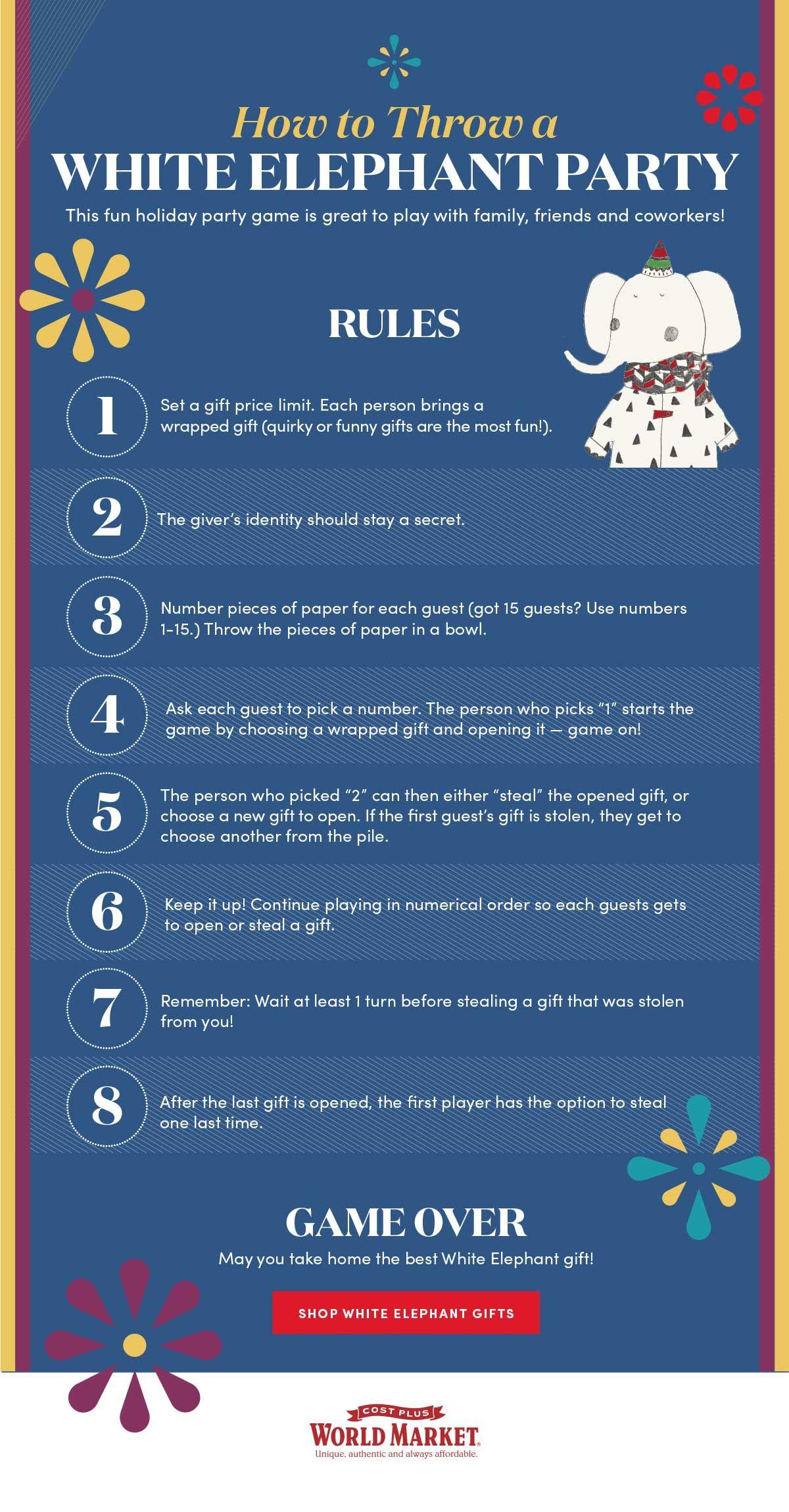 How To Throw A White Elephant Party   White elephant christmas ...