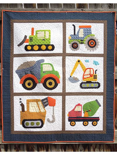 Any Little Boy Will Adore This Applique Quilt Pattern That