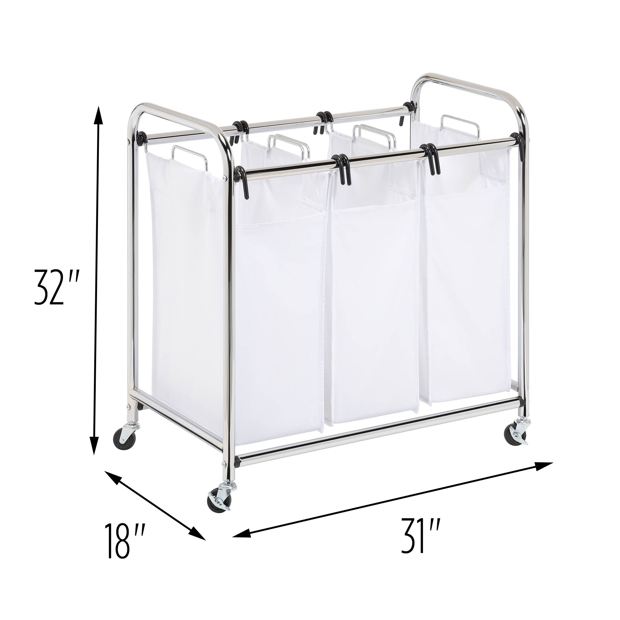 Large Capacity Wire Frame Metal Laundry Cart Walmart Com In 2020